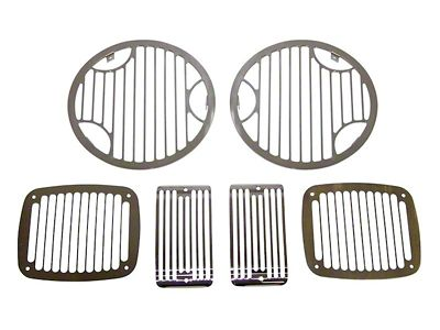 RT Off-Road Stone Guard Set - Billet Stainless (97-06 Jeep Wrangler TJ)