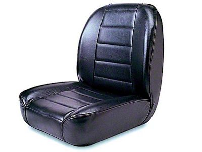 Rugged Ridge Low-Back Front Bucket Seat - Black (87-95 Jeep Wrangler YJ)
