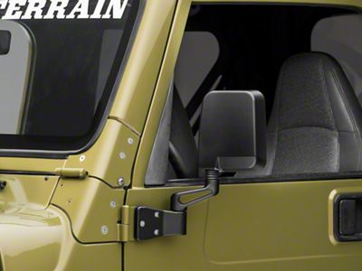 Rugged Ridge Black Mirrors - Pair (87-02 Jeep Wrangler YJ & TJ)