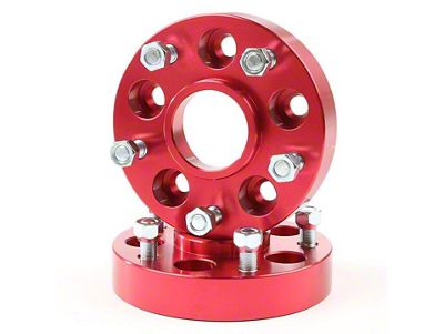 Alloy USA 1.25 in. Red Wheel Adapters - 5x4.5 to 5x5 (07-18 Jeep Wrangler JK)