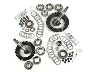 Alloy USA Dana 30F/44R Ring Gear and Pinion Kit w/ Master Overhaul Kit - 4.10 Gears (07-18 Jeep Wrangler JK, Excluding Rubicon)