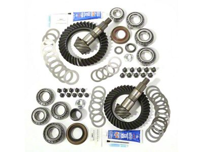 Alloy USA Dana 30 Front Axle/44 Rear Axle Ring Gear and Pinion Kit w/ Master Overhaul Kit - 4.56 Gears (07-18 Jeep Wrangler JK, Excluding Rubicon)
