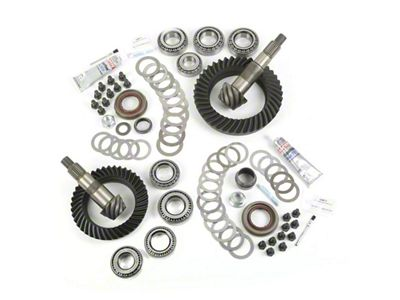 Alloy USA Dana 30F/44R Ring Gear and Pinion Kit w/ Master Overhaul Kit - 5.13 Gears (07-18 Jeep Wrangler JK, Excluding Rubicon)