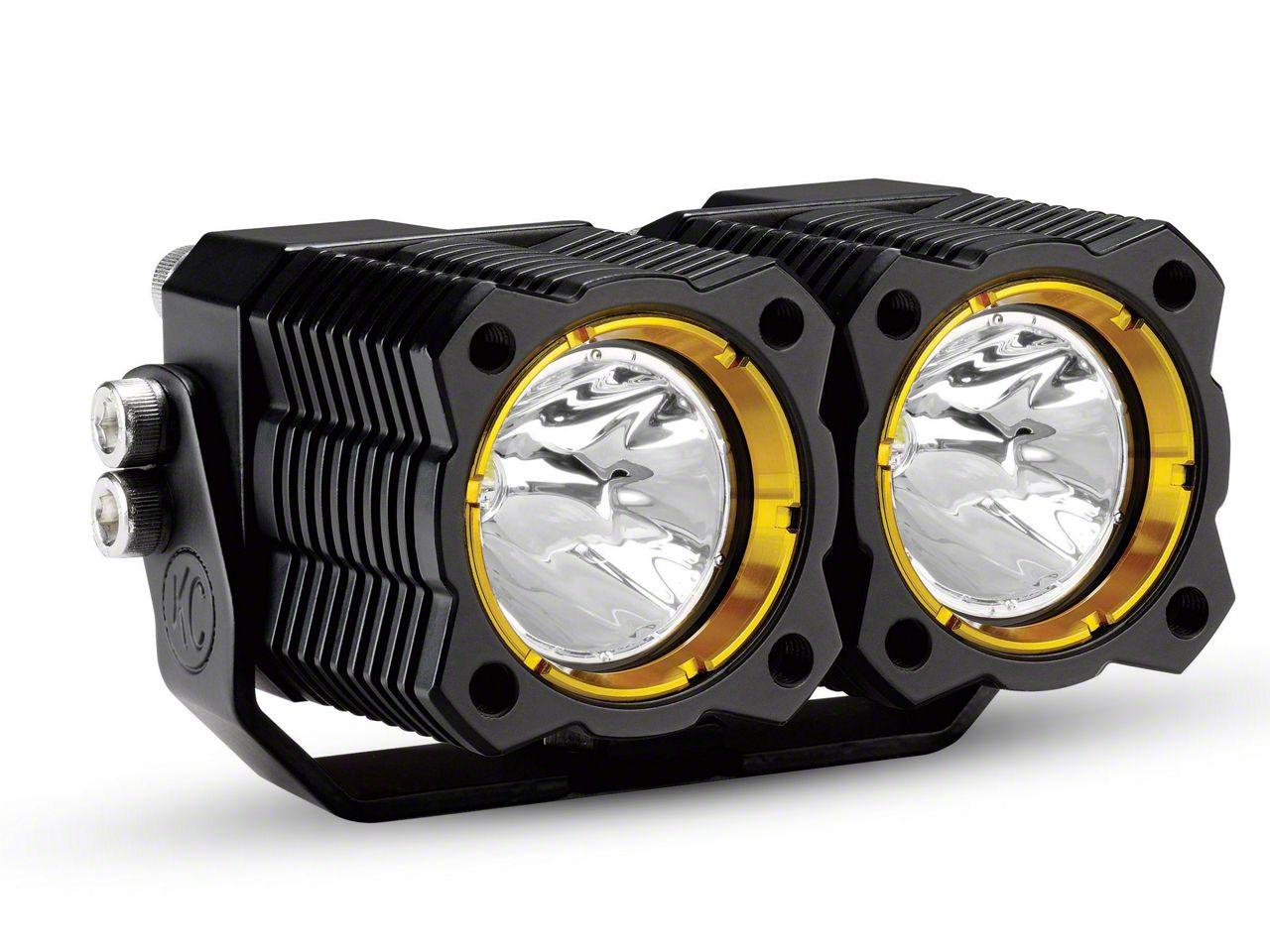KC HiLiTES FLEX Dual LED Light - Spot Beam