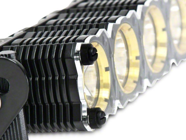KC HiLiTES 20 in. Clear Light Shield for KC Flex (87-19 Jeep Wrangler YJ, TJ, JK & JL)