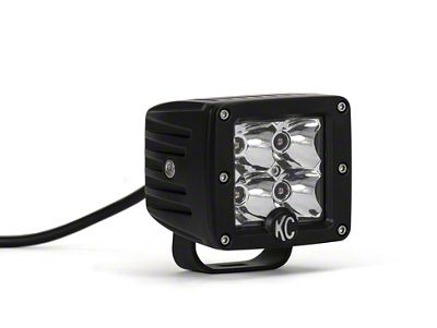 KC HiLiTES 3 in. C-Series C3 Amber LED Cube Light - Spot Beam