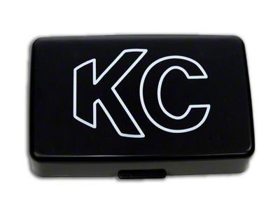 KC HiLiTES 5x7 in. 57 Series Cover - Black (87-18 Jeep Wrangler YJ, TJ, JK & JL)