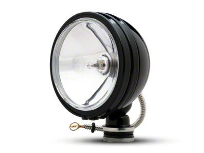 KC HiLiTES 6 in. Black Daylighter Round Halogen Lights - Spot Beam