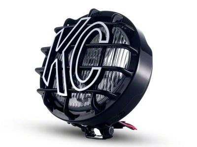 KC HiLiTES 6 in. Black SlimLite Round Halogen Light - Fog Beam