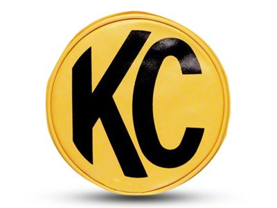 KC HiLiTES 8 in. Soft Vinyl Cover for Round Lights - Yellow (87-19 Jeep Wrangler YJ, TJ, JK & JL)