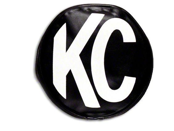 KC HiLiTES 8 in. Soft Vinyl Cover for Round Lights - Black (87-19 Jeep Wrangler YJ, TJ, JK & JL)