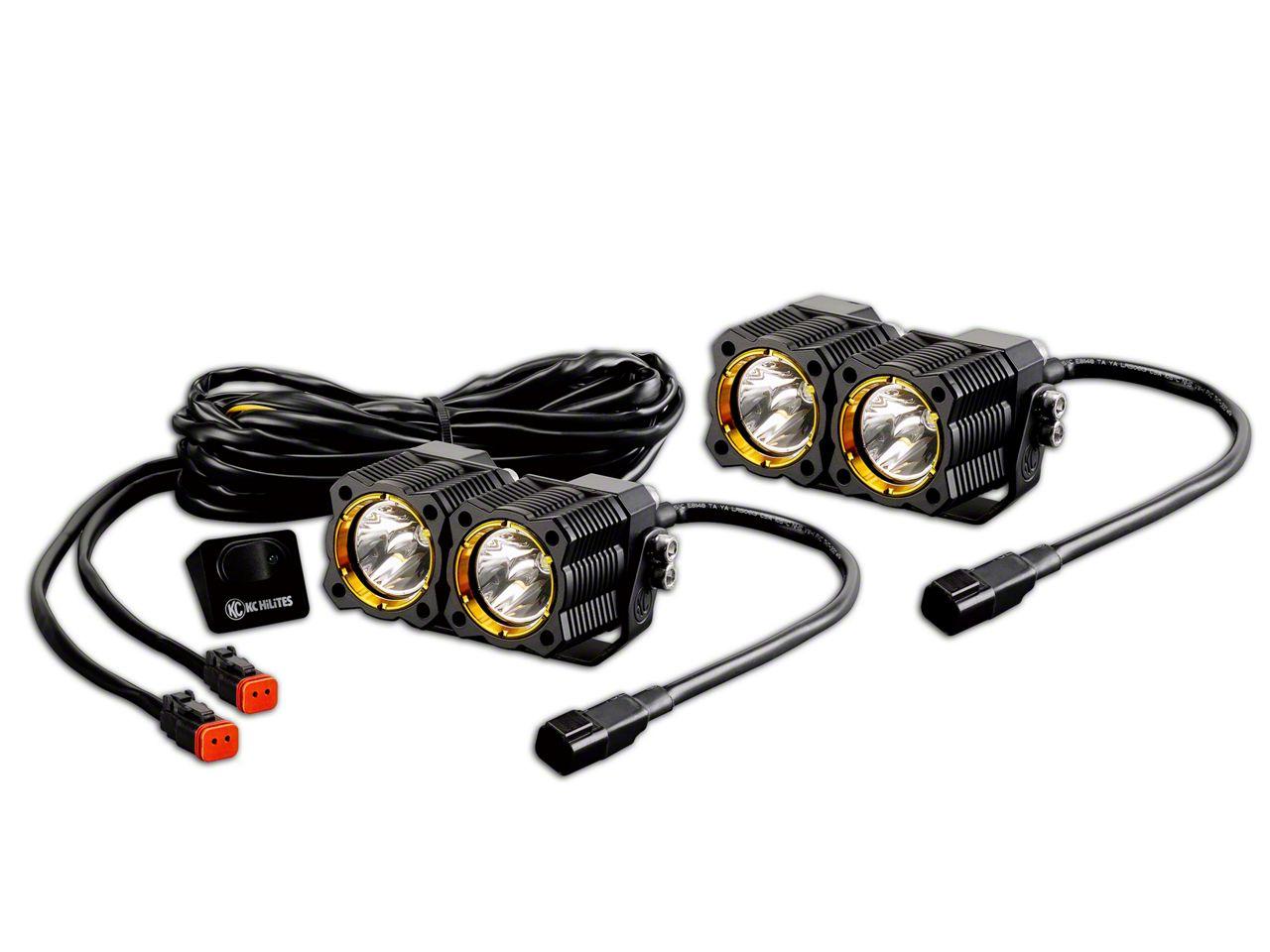KC HiLiTES Flex Dual LED Light - 20W Spread Beam - Pair
