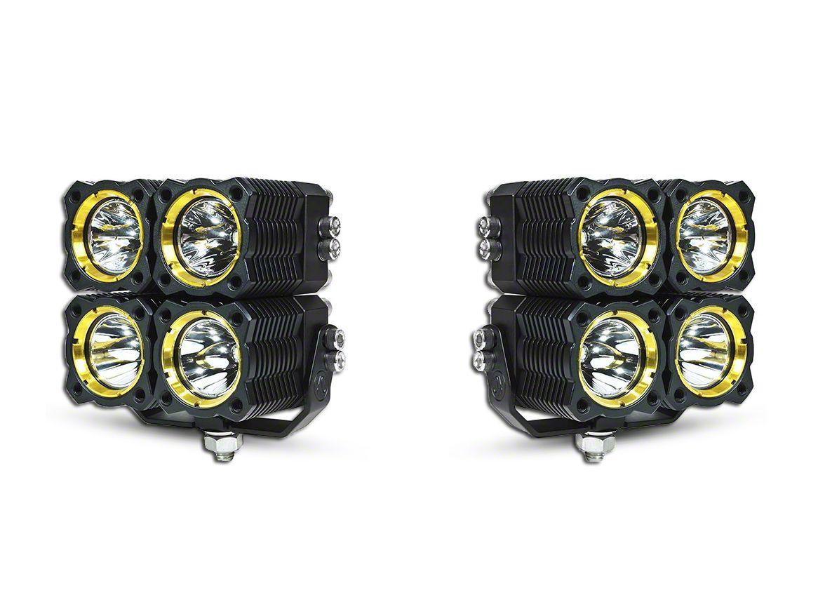 KC HiLiTES Flex Quad LED Light - 20W Combo Beam - Pair