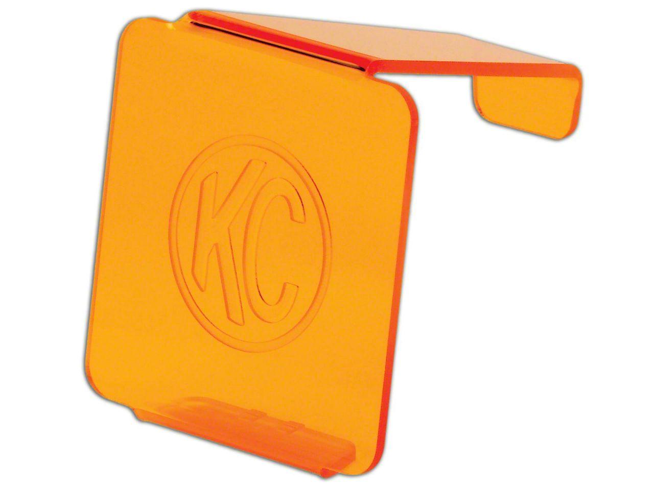 KC HiLiTES Hard Cover for 3 in. C3 Cube Light - Orange (87-19 Jeep Wrangler YJ, TJ, JK & JL)