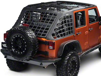 Smittybilt Soft Top Cargo Restraint System - Black Diamond (07-18 Jeep Wrangler JK)