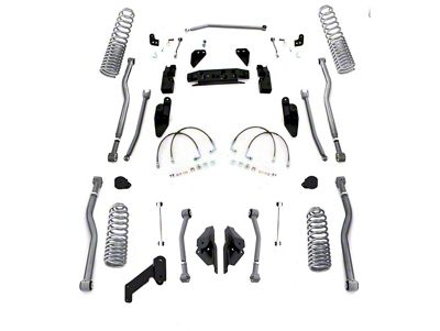 Rubicon Express 3.5 in. Progressive Coil Spring Extreme Duty 4-Link Long Arm Suspension Lift Kit (07-18 Jeep Wrangler JK 2 Door)
