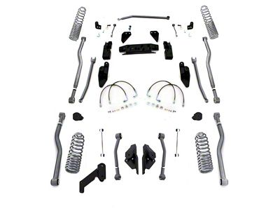 Rubicon Express 3.5 in. Progressive Coil Spring Extreme Duty 4-Link Long Arm Suspension Lift Kit (07-18 Jeep Wrangler JK 4 Door)
