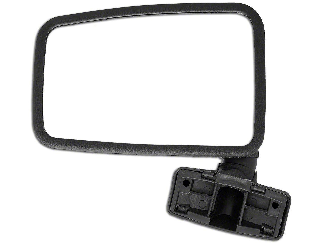 Crown Automotive Black Side Mirror (87-93 Jeep Wrangler YJ w/ Full Doors)