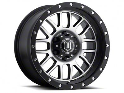ICON Vehicle Dynamics Alpha Satin Black Machined Wheel - 17x8.5 (18-19 Jeep Wrangler JL)