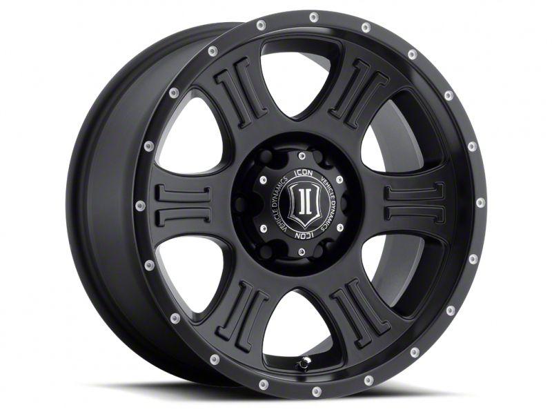 ICON Vehicle Dynamics Shield Satin Black Wheel - 17x8.5 (18-19 Jeep Wrangler JL)