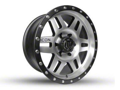 ICON Vehicle Dynamics Six Speed Satin Black Machined wheel - 17x8.5 (18-19 Jeep Wrangler JL)