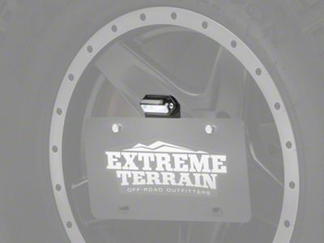 JKS Spare Tire License Plate Mount Kit w/ Light (87-18 Jeep Wrangler YJ, TJ & JK)