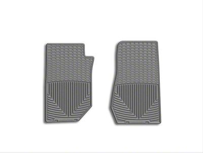 Weathertech All Weather Front Rubber Floor Mats - Gray (07-18 Jeep Wrangler JK)