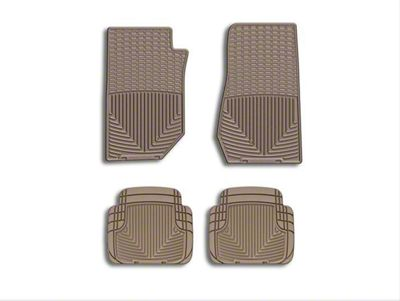 Weathertech All Weather Front Rubber Floor Mats - Tan (07-18 Jeep Wrangler JK)