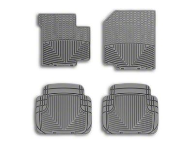 Weathertech All Weather Front Rubber Floor Mats - Gray (87-95 Jeep Wrangler YJ)