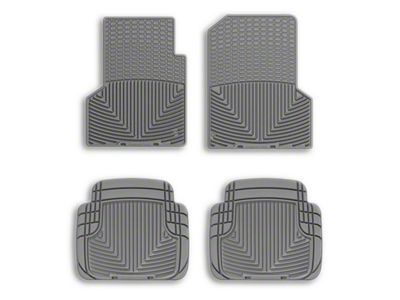 Weathertech All Weather Front Rubber Floor Mats - Gray (97-06 Jeep Wrangler TJ)
