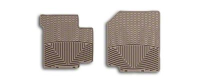 Weathertech All Weather Front Rubber Floor Mats - Tan (87-95 Jeep Wrangler YJ)