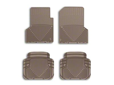 Weathertech All Weather Front Rubber Floor Mats - Tan (97-06 Jeep Wrangler TJ)