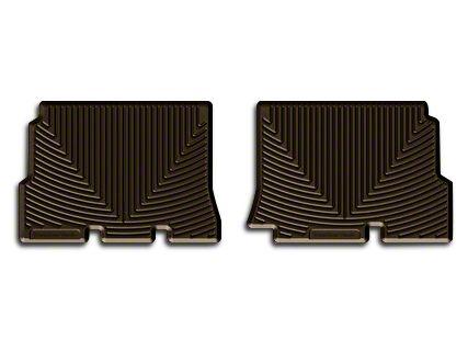 Weathertech All Weather Rear Rubber Floor Mats - Cocoa (14-18 Jeep Wrangler JK 4 Door)