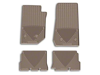 Weathertech All Weather Rear Rubber Floor Mats - Tan (14-18 Jeep Wrangler JK 4 Door)