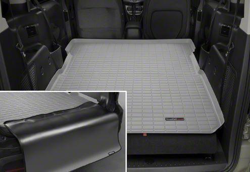 Weathertech DigitalFit Cargo Liner w/ Bumper Protector - Gray (07-14 Jeep Wrangler JK 2 Door)