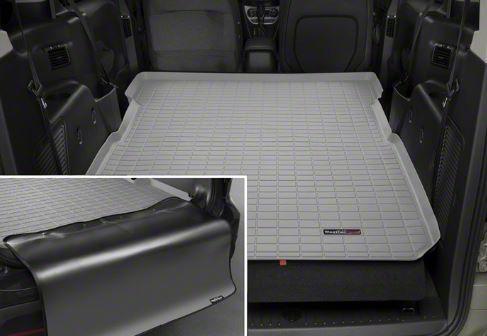 Weathertech DigitalFit Cargo Liner w/ Bumper Protector - Gray (07-18 Jeep Wrangler JK 4 Door)