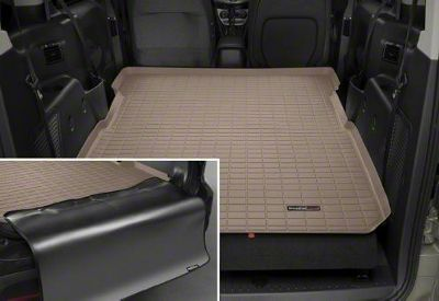 Weathertech DigitalFit Cargo Liner w/ Bumper Protector - Tan (07-10 Jeep Wrangler JK 4 Door)