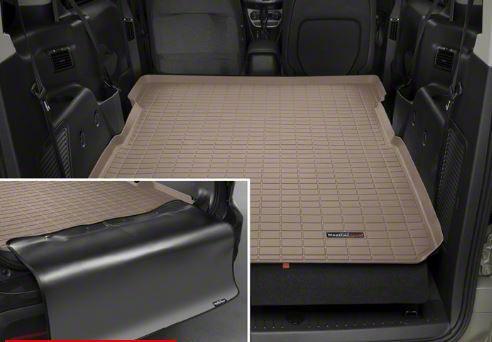 Weathertech DigitalFit Cargo Liner w/ Bumper Protector - Tan (07-14 Jeep Wrangler JK 2 Door)