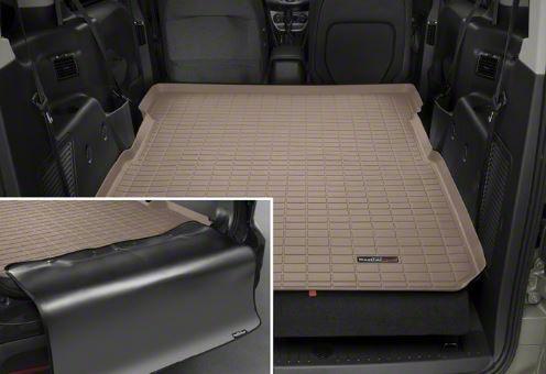 Weathertech DigitalFit Cargo Liner w/ Bumper Protector - Tan (11-14 Jeep Wrangler JK 4 Door)