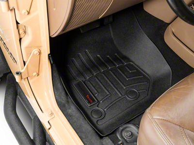 Weathertech DigitalFit Front Floor Liners - Black (14-18 Jeep Wrangler JK)