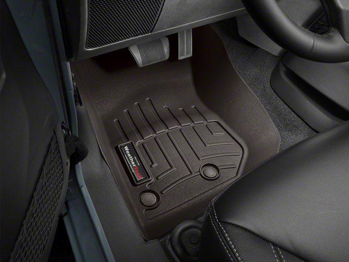 Weathertech DigitalFit Front Floor Liners - Cocoa (14-18 Jeep Wrangler JK)
