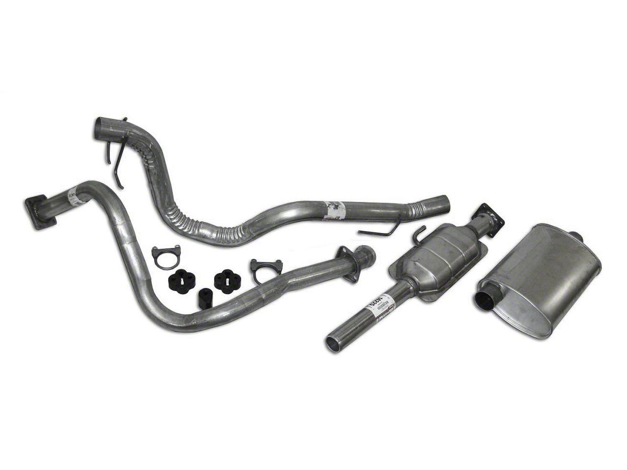 Crown Automotive Complete OEM Exhaust Kit (87-90 4.2L Jeep Wrangler YJ)