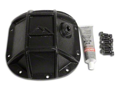RT Off-Road Dana 30 Front Axle Heavy Duty Front Differential Cover - Black (87-18 Jeep Wrangler YJ, TJ & JK)