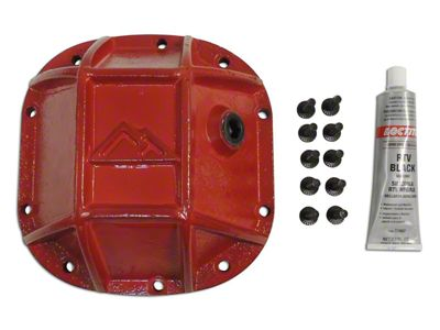 RT Off-Road Dana 30 Front Axle Heavy Duty Front Differential Cover - Red (87-18 Jeep Wrangler YJ, TJ & JK)