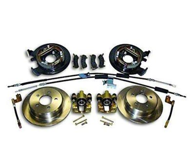 RT Off-Road Dana 35 Rear Axle Disc Brake Conversion Kit w/ Parking Brake Cables (97-06 Jeep Wrangler TJ w/o ABS)
