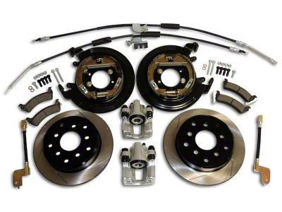 RT Off-Road Dana 35 Rear Axle Disc Brake Conversion Kit w/ Slotted Rotors (97-06 Jeep Wrangler TJ w/o ABS)