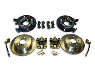 RT Off-Road Dana 35 Rear Axle Disc Brake Conversion Kit w/o Parking Brake Cables (97-06 Jeep Wrangler TJ w/o ABS)