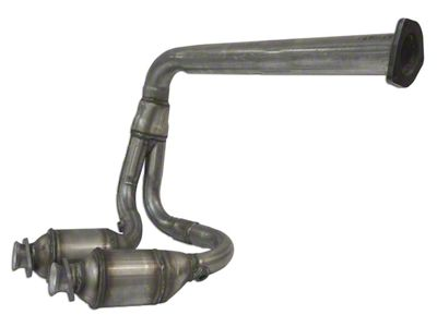 Omix-ADA Front Exhaust Pipe w/ 2 Catalytic Converters (00-02 4.0L Jeep Wrangler TJ)