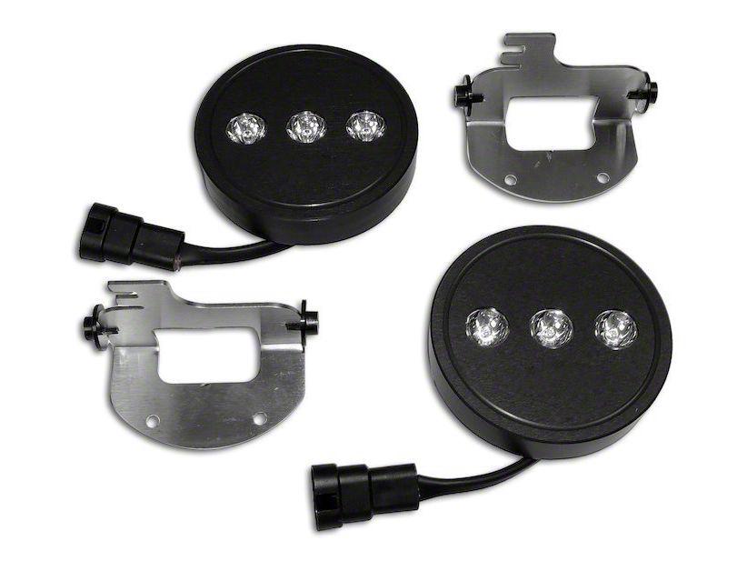 RT Off-Road LED Fog Lamp Kit (07-09 Jeep Wrangler JK w/ OEM Plastic Bumper)