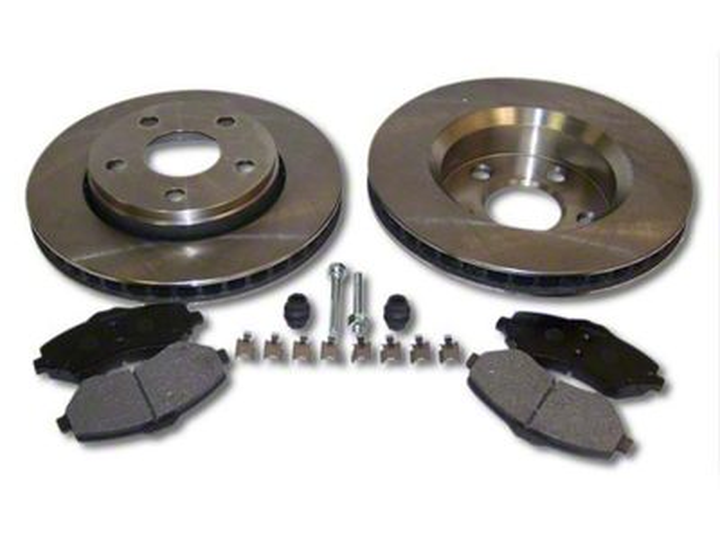 Crown Automotive Service Disc Brake Rotor & Pad Kit - Front (07-18 Jeep Wrangler JK)